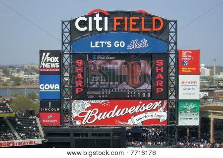 Citi Field Scoreboard