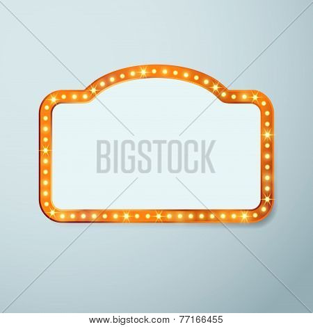 Retro Cinema Vintage Old Bulb Frame Sign