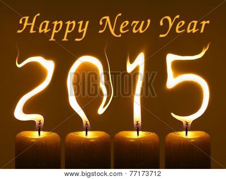 Happy new year 2015 - Flames