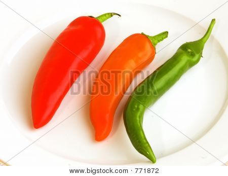 chilli peppers on plate
