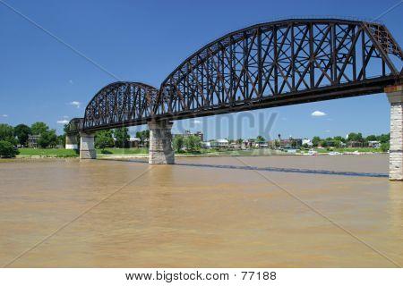 Railroad Bridge Over Ohio 2