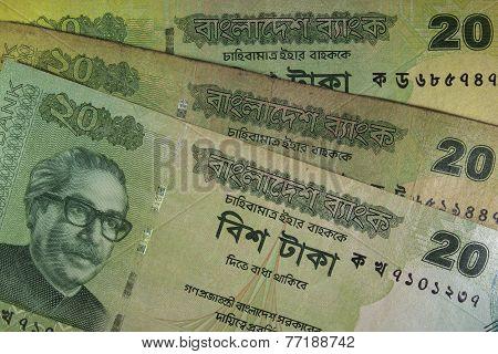 Twenty Bangladeshi taka bills, Bangladesh