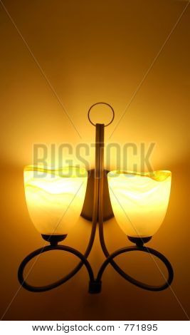 vintage lamp on wall