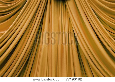 Gold Curtain Texture