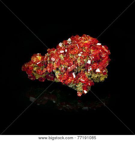 Texture Of Gem, Red Crystal Garnet