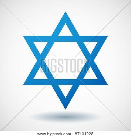 Blue David Star Icon