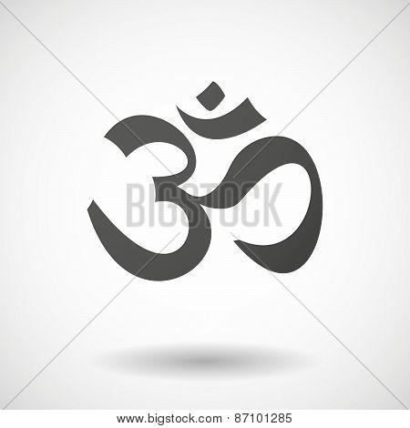 Grey Om Sign