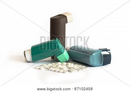 Various Asthma Medications Including Inhalers