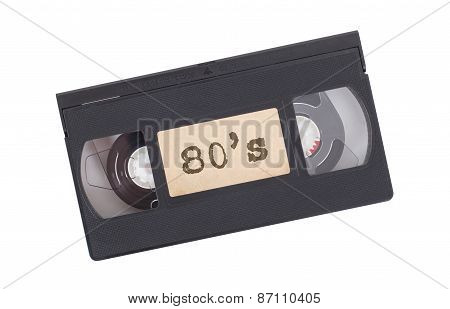 Retro Videotape Isolated On White