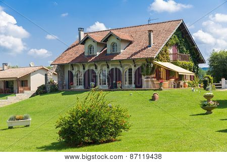 Big Frenh Country House With Large Green Garden