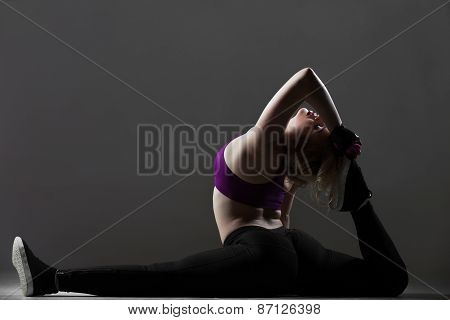 Beautiful Sporty Girl Stretching Workout