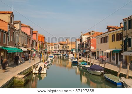 Buildings And Boats In Murano
