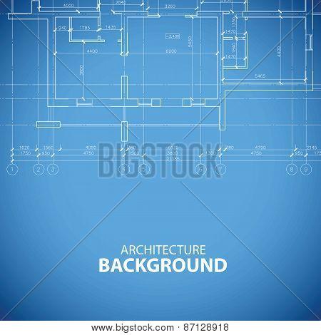 Blueprint building background
