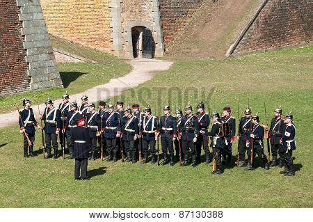 Fortress Josefov, demonstration of a battle in the 19th century