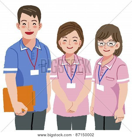 Smiling Caregivers