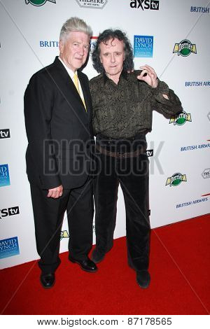 LOS ANGELES - APR 1:  David Lynch, Donovan at the The Music Of David Lynch at the Ace Hotel on April 1, 2015 in Los Angeles, CA