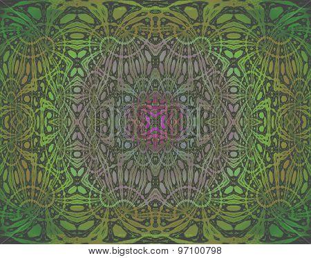 Seamless pattern green purple
