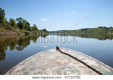 Boat floats on the water