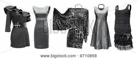 Black Grey Dresses Set