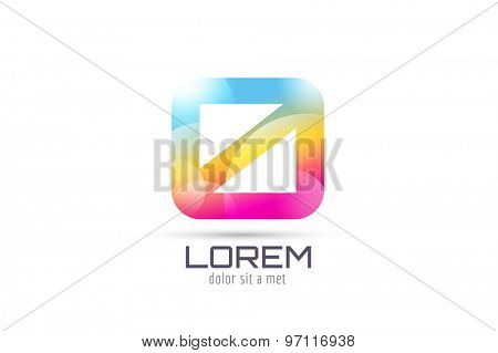 Vector 0 logo template. Abstract arrow shape and symbol, icon, text or creative, idea, flow. Stock illustration. Isolated on white background.