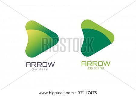 Vector arrow abstract logo template. Up arrow shape and symbol, icon, creative, idea, flow, dynamic, moving. Company logo. Vector icon. Stock illustration. Isolated on white