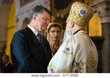President Of Ukraine Petro Poroshenko And Filaret