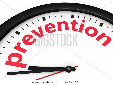 Time For Prevention Concept