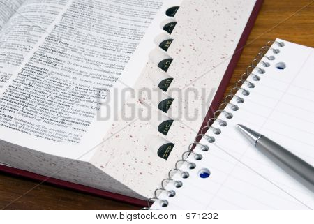Dictionary And Notebook