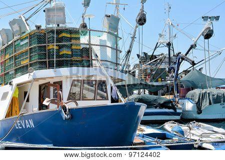 Fishing boats in Rovinj