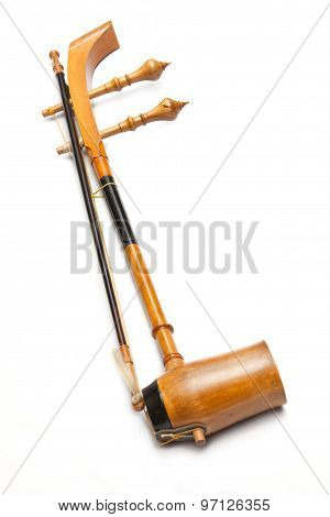 Treble Fiddle Or Soprano Sounded String Thai Music Instrument