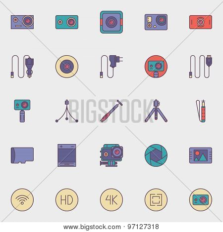 Action camera icons