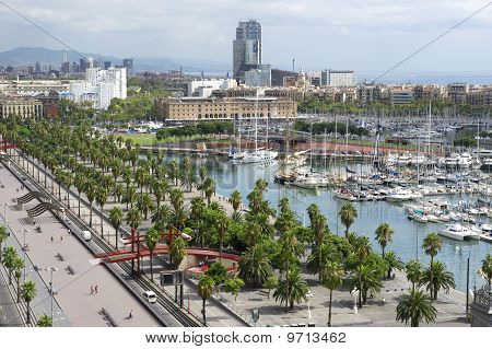 country Spain Mediterranean sea - Port Barcelona poster