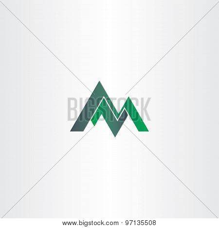 Letter M Green Mountain And Letter Z Or N
