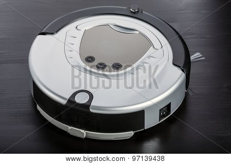 Silver Robot Vacuum Cleaner