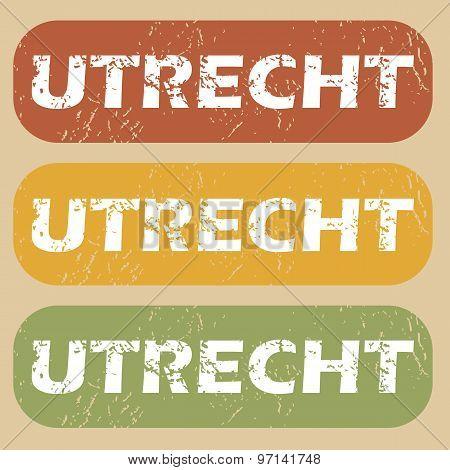 Vintage Utrecht stamp set