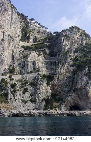 Via Krupp Of Capri Island, Italy