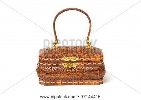Thai Tradinational Woman Basketry ,yan Lipao Basketry