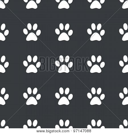 Straight black paw pattern