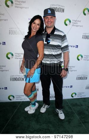 LOS ANGELES - JUN 8:  Debbe Dunning, Zachery Ty Bryan at the SAG Foundations 30TH Anniversary LA Golf Classi at the Lakeside Golf Club on June 8, 2015 in Toluca Lake, CA