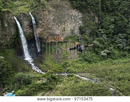 Bridal Veil (manto De La Novia) Waterfall, Ecuador