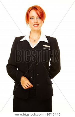 Caucasian Woman As Hotel Worker