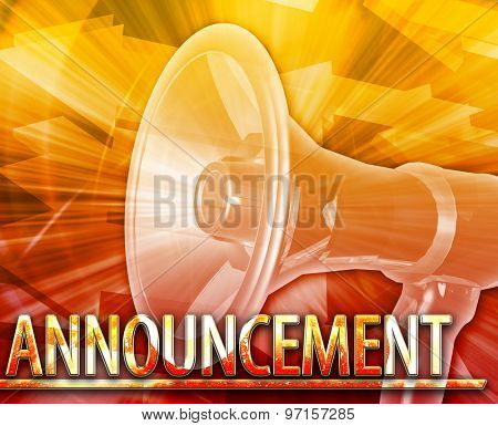 Abstract background digital collage concept illustration News Announcement