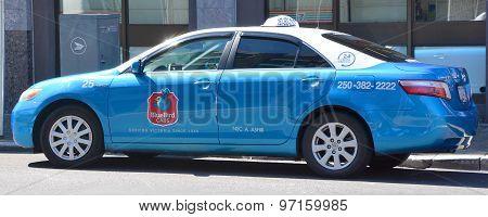 BlueBird cab