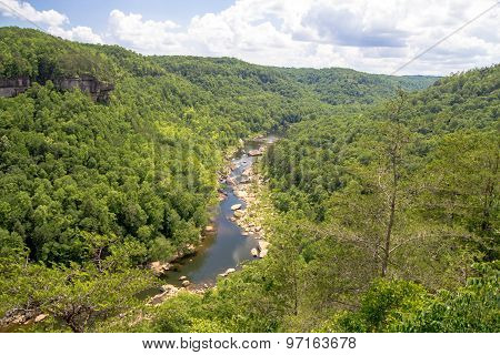 The Big South Fork Recreation National Recreation Area encompasses more than 125,000 acres and straddles the Kentucky and Tennessee border. poster