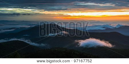 Warm Blue Ridge Mountain Sunrise 5
