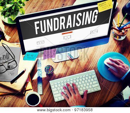 Fund Raising Funding Finance Economy Donation Concept