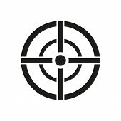 The aim bag icon. Crosshair and target, sight, sniper symbol. Flat Vector illustration. Button Set poster