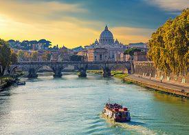 Saint Peters Basilica View, Roma,  Italy.
