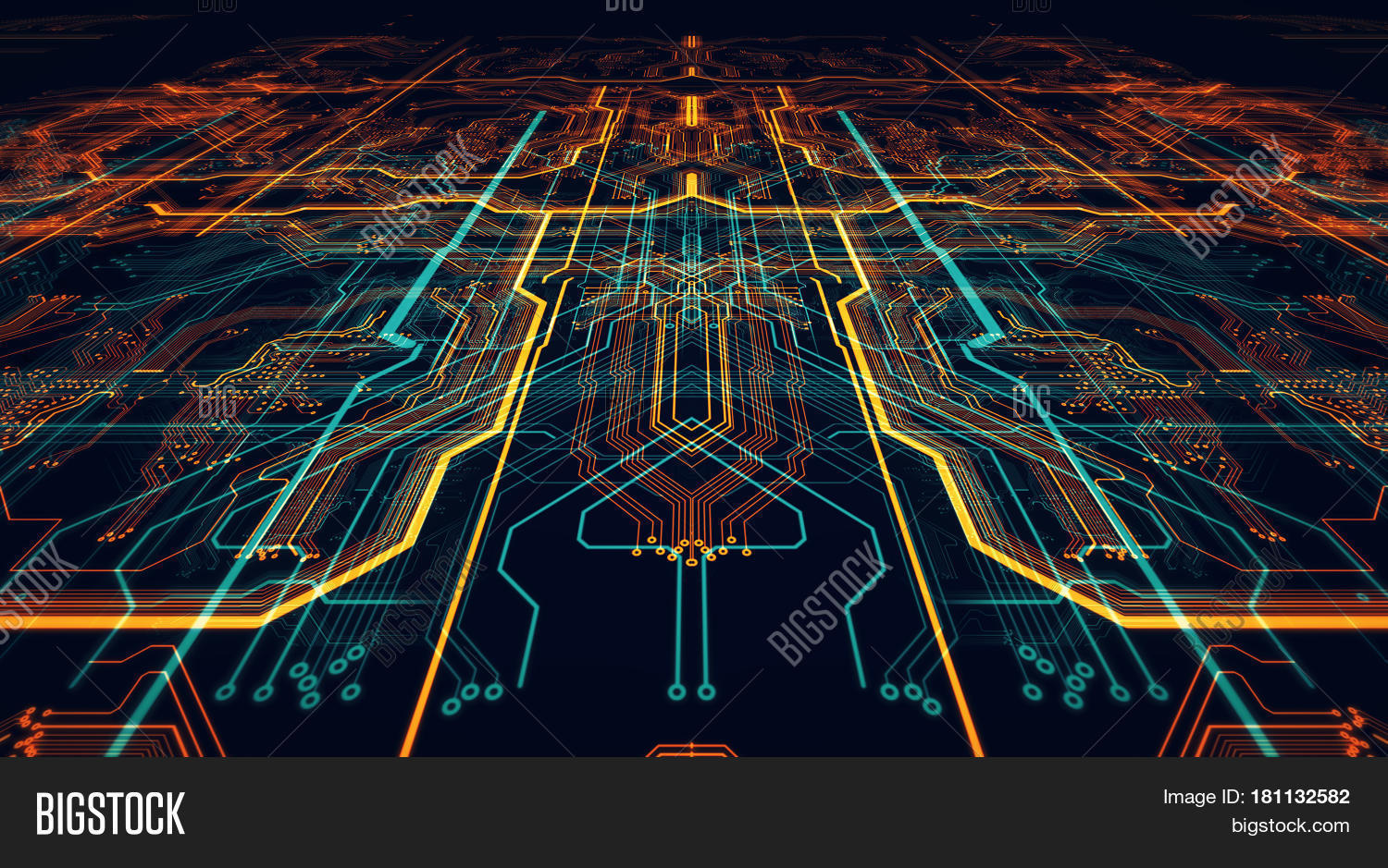Circuit Board Image Photo Free Trial Bigstock Computer Code And Background Illustration Futuristic Server Processing Orange Green Blue Technology Printed