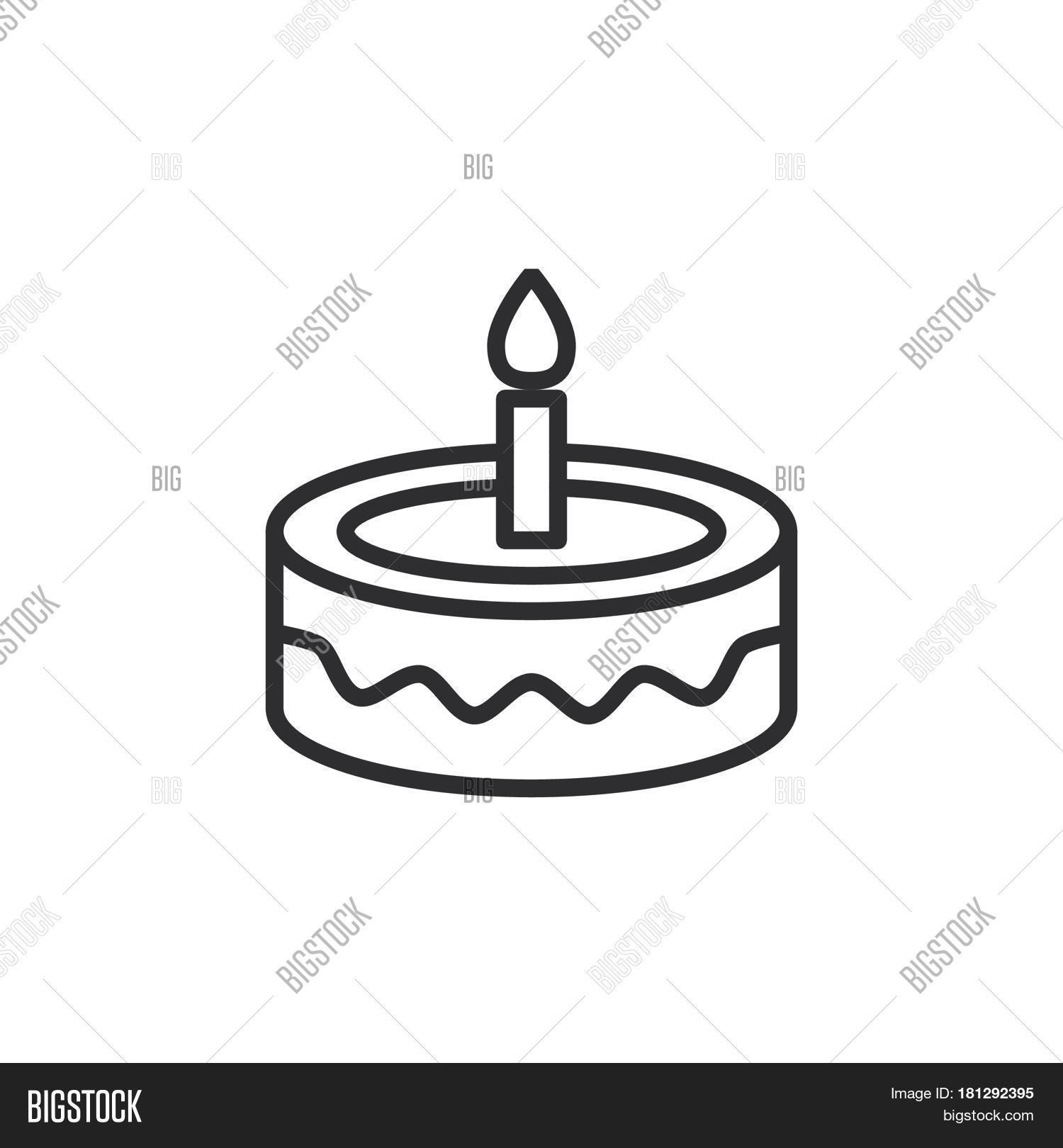 Fancy Birthday Cake Vector Photo Free Trial Bigstock